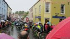 Road cyclists compete in The Giro d'Italia in Belfast