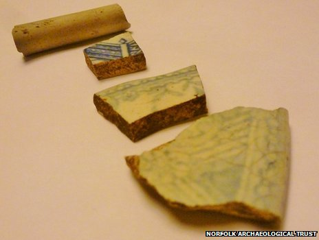 Pottery found at St Benet's Abbey