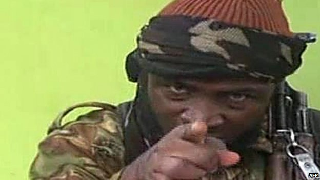 A screengrab taken on 12 May 2014, from a video released by Nigerian Islamist group Boko Haram showing its leader Abubakar Shekau