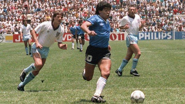 1986 World Cup - England v Argentina: Diego Maradona wonder goal