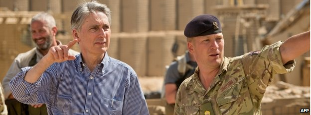 Philip Hammond in Afghanistan