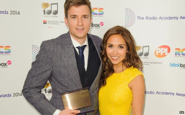 Myleen Klass and Greg James