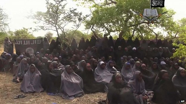 Captured girls in Nigeria