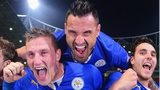 Leicester City celebrate promotion