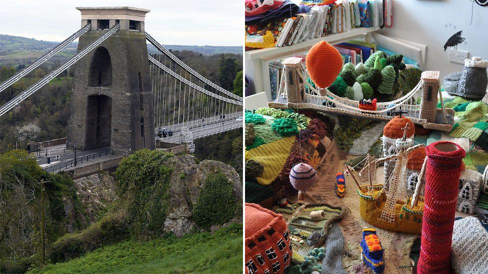 Suspension Bridge - real and wool