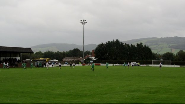 Maes-y-dre ground of Welshpool Football Club.