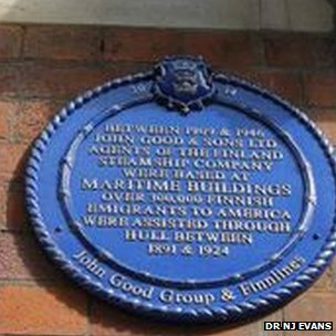 The plaque in Hull