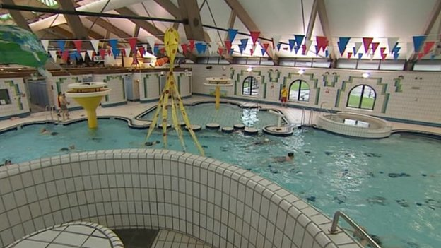 protest held over meadowlands leisure pool funding fears bbc news