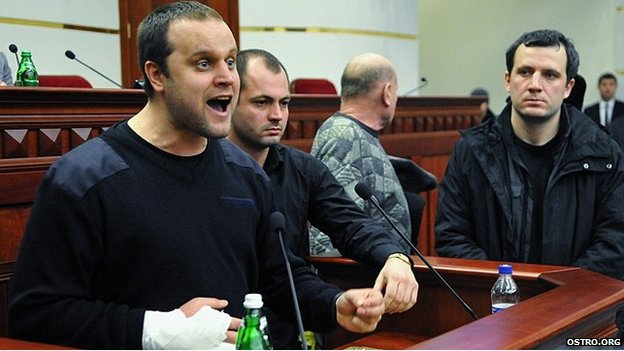 Pavel Gubarev addresses a meeting