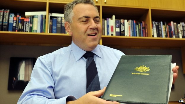 Australia's federal treasurer Joe Hockey