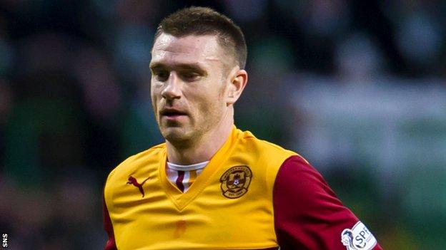 Motherwell defender Stephen McManus