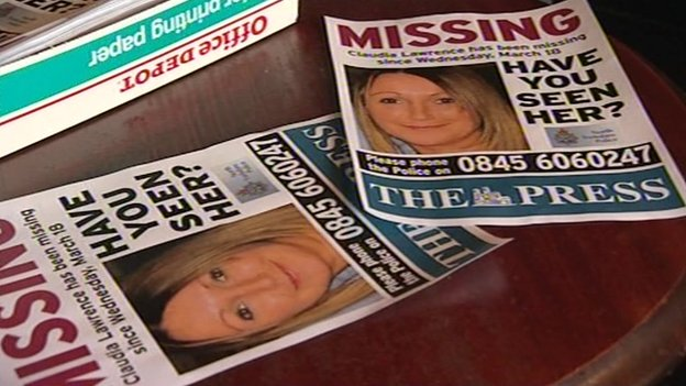 Missing posters of Claudia Lawrence