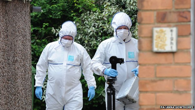 Forensic officers at a property in York