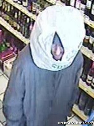 Plastic bag on head robber in Hemel Hempstead