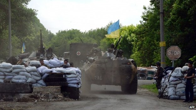 Ukrainian forces outside Sloviansk - 13 May