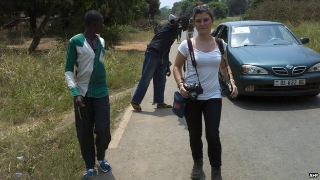 Camille Lepage in Damara, north of Bangui - February 2014