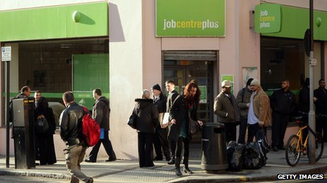 Queue outside a job centre