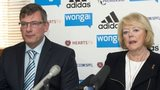 Hearts' Craig Levein and Ann Budge