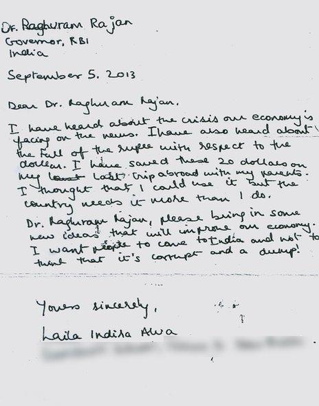 Laila's letter to Raghuram Rajan