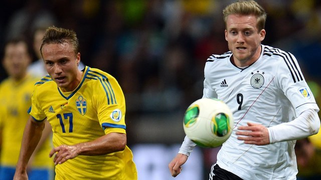 Sweden V Germany during World Cup qualifier