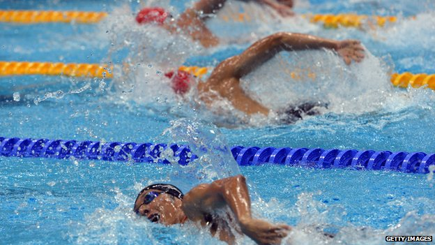 London 2012 swimmers in action