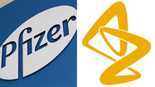 Pfizer, AstraZeneca logos