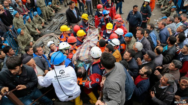 Miner rescued from Soma mine. 14 May 2014