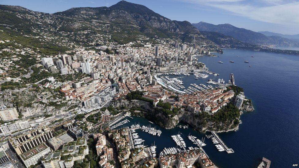 Aerial view of Monaco taken in September 2013