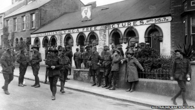 Australian and New Zealand troops in Weymouth