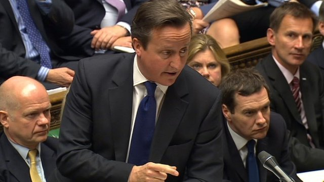 David Cameron and his frontbench