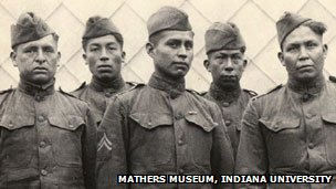 Members of the Choctaw Telephone Squad