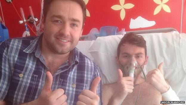 Jason Manford and Stephen Sutton