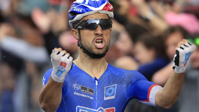 Nacer Bouhanni won Stage Four of the Giro d'Italia