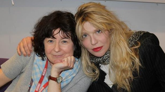 Jane Garvey and Courtney Love