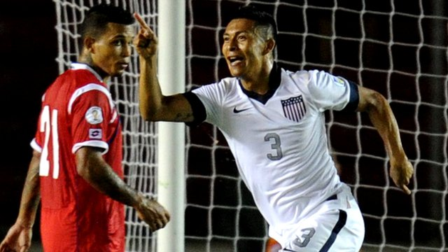 USA's Michael Orozco scores against Panama