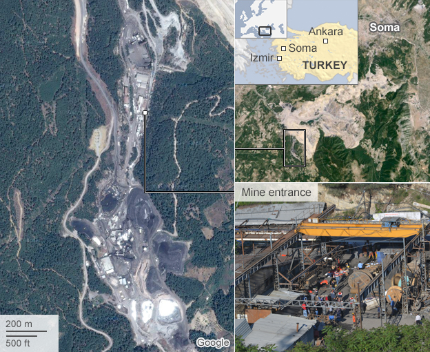Map: Turkey mine disaster