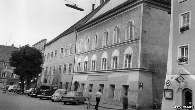 The house where Adolf Hitler was born (centre)