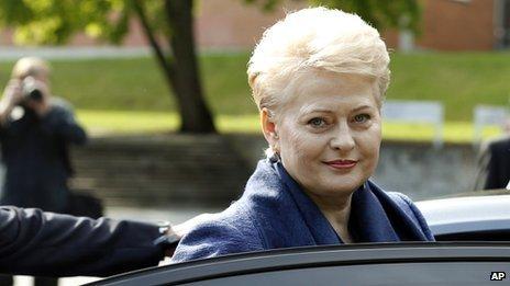 Dalia Grybauskaite in May 2014