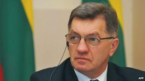 Lithuanian Prime Minister Algirdas Butkevicius in November 2013