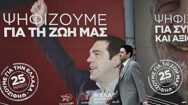Syriza poster, Athens