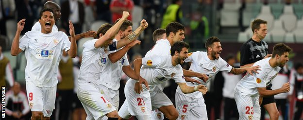 Sevilla win the Europa League