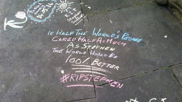 chalk tributes