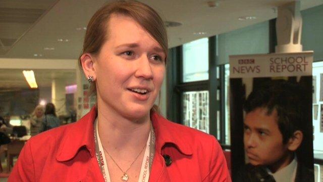 A teacher taking part in BBC News School Report