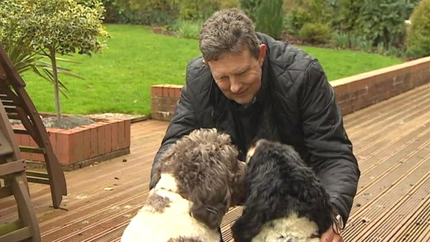 Paul Dunham and his dogs