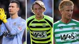 Yeovil's Marek Stech, Luke Ayling and Byron Webster