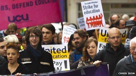 UCU strike march