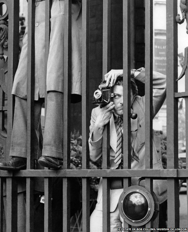 A photographer on the eve of Queen Elizabeth II's coronation,