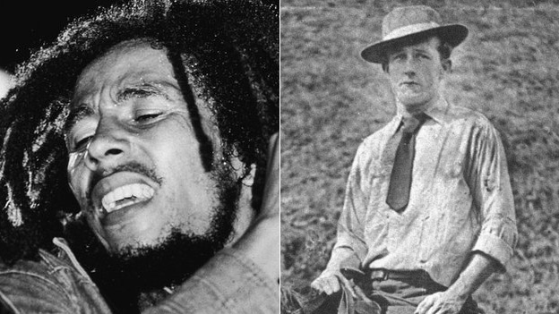 Bob Marley and father Norval