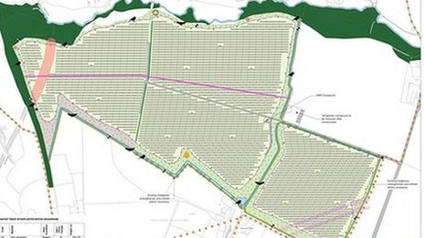 Solar Park plan for Manor Farm