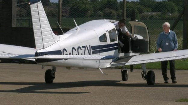 Light aircraft at Manston